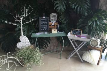 Mesa de firmas boda