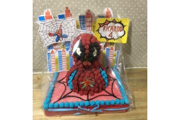 Tarta de chuches Spiderman 3D