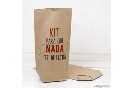 Bolsa Kraft Kit Para que nada te detenga 18x32cm.,min.25