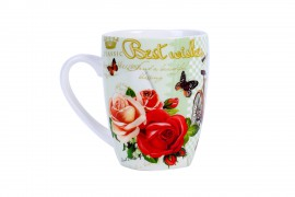 "TAZA ""RETRO BEST WISHES"" VERDE"